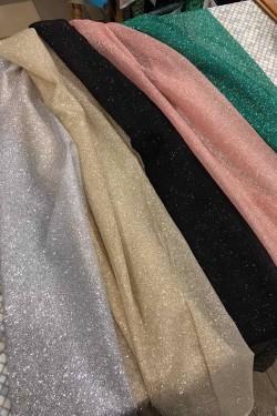 glitter organza semolina