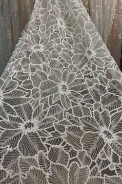 сетка с глиттером и гранулами Павлина общий вид